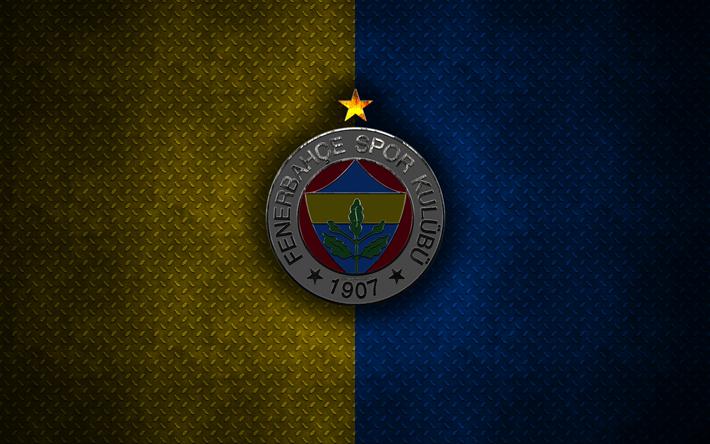 Indir Duvar Kağıdı Fenerbahçe Sk 4k Metal Logo Yaratıcı Sanat