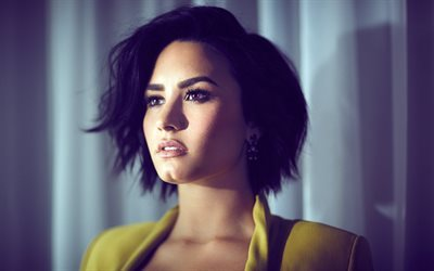 Demi Lovato, American actress, singer, portrait, beautiful girl make-up