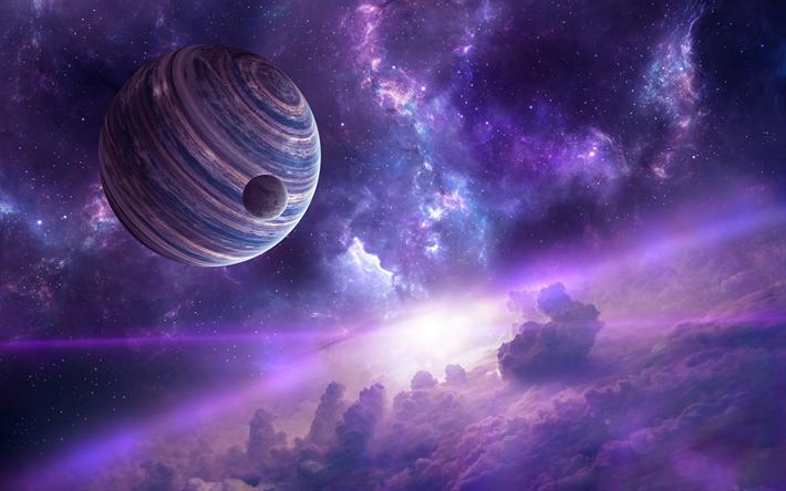 Download Wallpaper 2780x2780 Planet Galaxy Universe: Download Wallpapers Planet, Universe, Satellite, Sci-fi