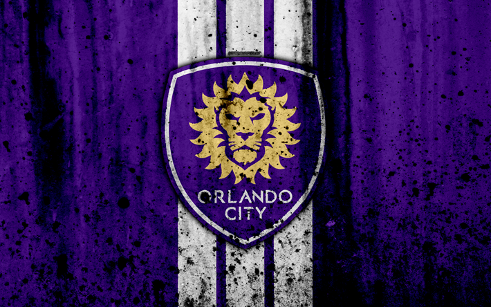 Download wallpapers 4k, FC Orlando City, grunge, MLS, art, Eastern Conference, football club ...