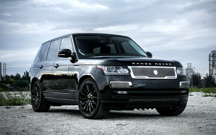 Download Wallpapers Land Rover Range Rover Vogue 2017