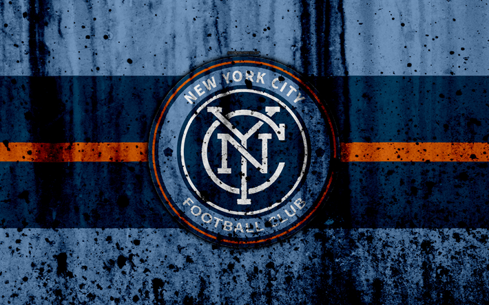 Download Wallpapers 4k Fc New York City Grunge Mls Art