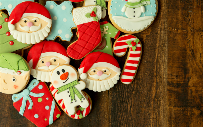Fondos De Pantalla De Galletas: Descargar Fondos De Pantalla Las Galletas De Navidad, Año