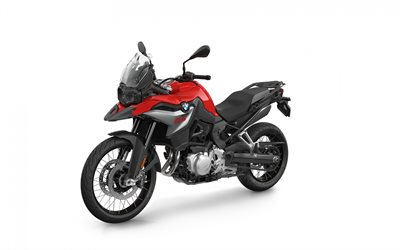 BMW F 850 GS, 2020, exterior, front view, new red-black F 850 GS, German motorcycles, BMW