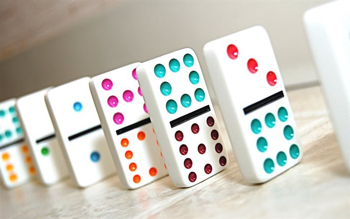 domino, game, multi-colored domino