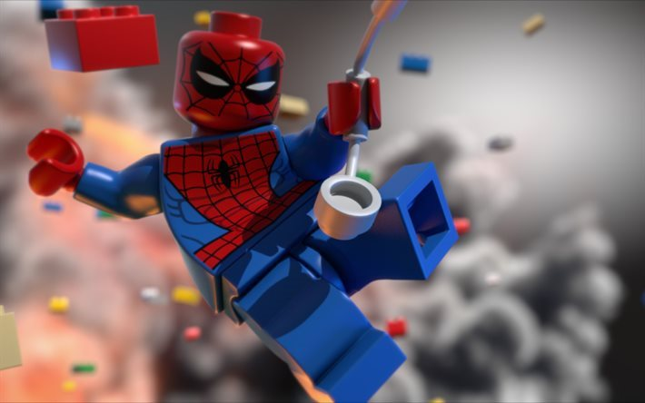 Spiderman, 2017 movie, 3d-animation, The Lego Batman