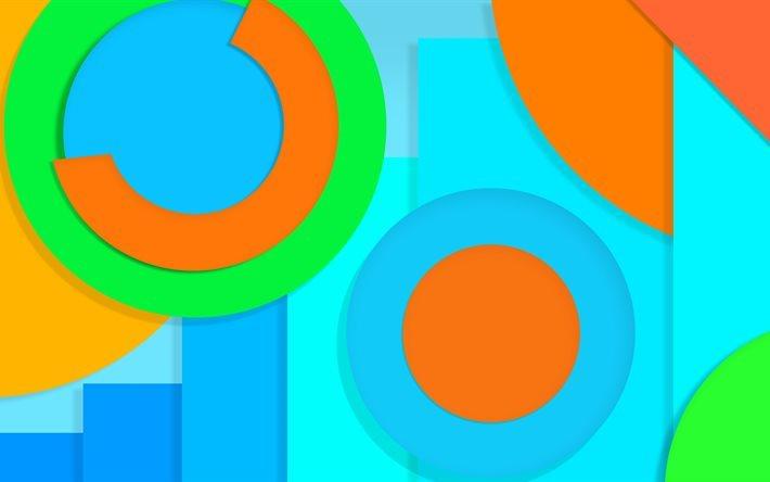 Fondo De Pantalla Abstracto Flores Y Circulos: Descargar Fondos De Pantalla Colorido Abstracto, 4k
