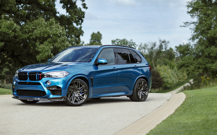 Download Wallpapers Bmw X5m 2017 F85 Sky Blue X5 Luxury Sports