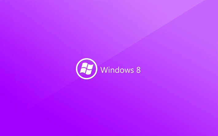 Download Wallpapers Windows 8 4k Creative Material Design Purple