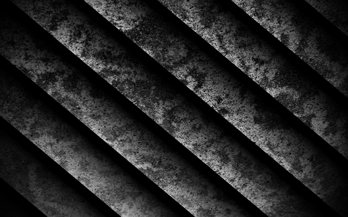 stone steps, 4k, stairs, diagonal texture, grunge, dark background, lines texture