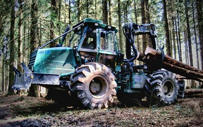 Noe NF170-4R, timber carrier, manipulator, 2021 tractors, green tractor, HDR, special equipment, Noe