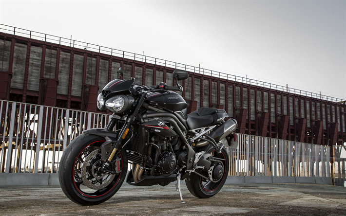 Download Wallpapers Triumph Speed Triple RS, Parking, 4k