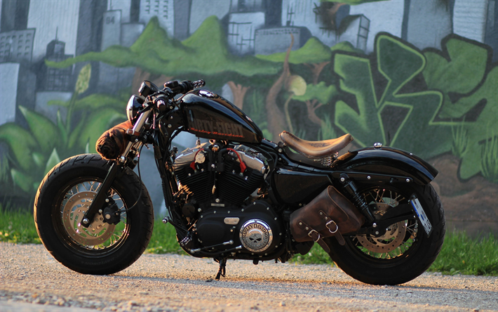 Download Wallpapers Harley Davidson Sportster 48 Bobber