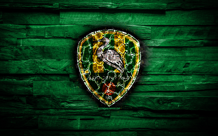 Download Wallpapers Den Haag Fc Burning Logo Eredivisie Green Wooden Background Dutch Football Club Laliga Grunge Ado Den Haag Football Soccer Den Haag Logo Fire Texture Netherlands For Desktop Free Pictures For