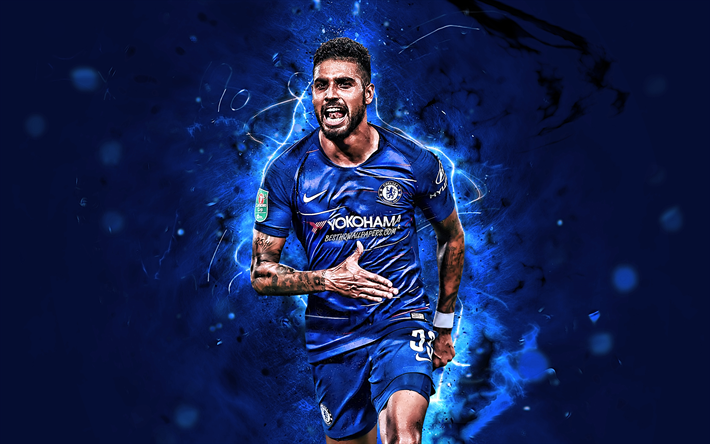 Download Wallpapers Emerson, Goal, Chelsea FC, Italian