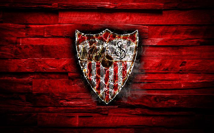 Download Wallpapers Sevilla Fc Burning Logo La Liga Red Wooden Background Spanish Football Club Laliga Grunge Sevilla Football Soccer Sevilla Logo Fire Texture Spain For Desktop Free Pictures For Desktop Free