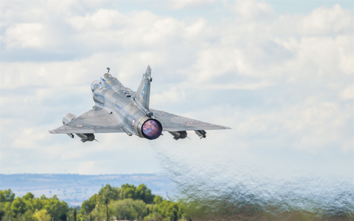 Download Wallpapers Dassault Mirage 2000 French Fighter