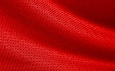 red fabric texture, red wave background, red knitted fabric, red background, fabric texture