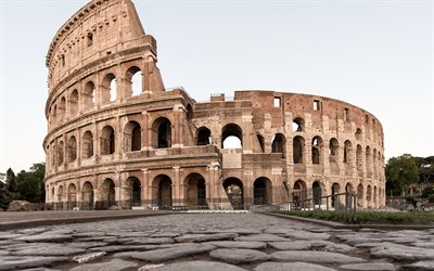 Colosseum, Rome, landmark, morning, sunrise, architectural monument