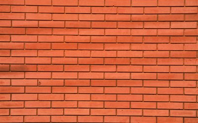 brown brickwall, 4k, close-up, brown bricks, identical bricks, bricks textures, brown brick wall, bricks, wall