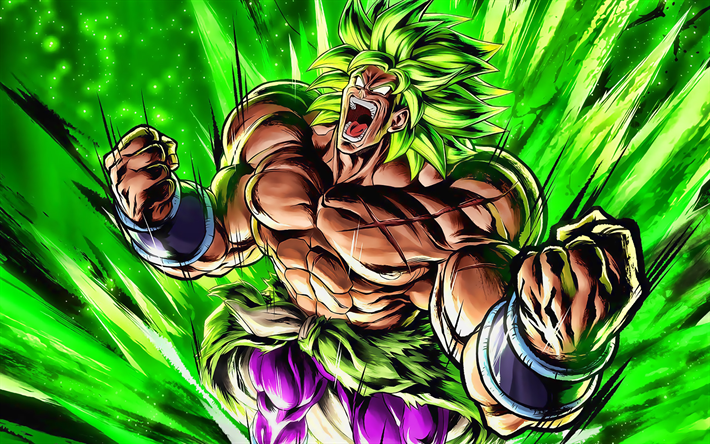 Download Wallpapers Evil Broly Green Lightnings Dragon