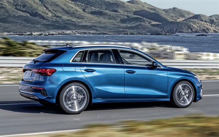 Download wallpapers Audi A3 Sportback, 2021, side view ...