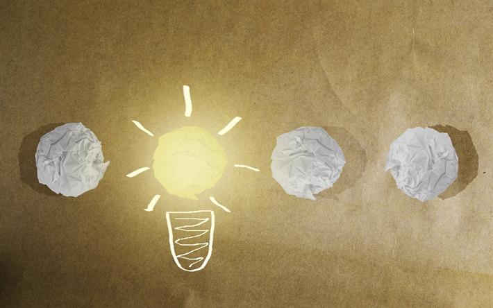 download wallpapers idea concepts creative light bulb