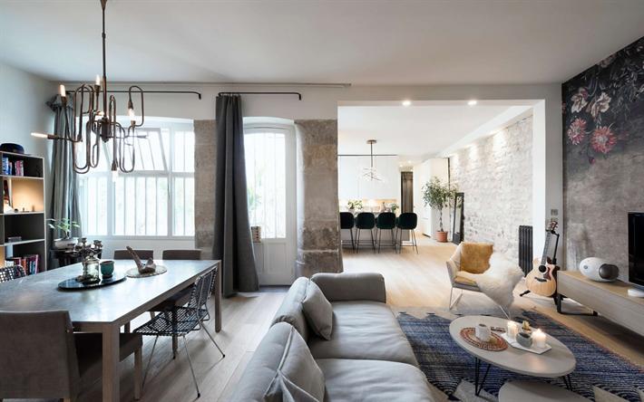 Herunterladen hintergrundbild wohnzimmer, modern stilvolles ...