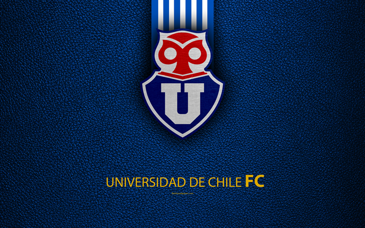 Club Universidad De Chile K Logo Blue Leather Texture Chilean Football Club