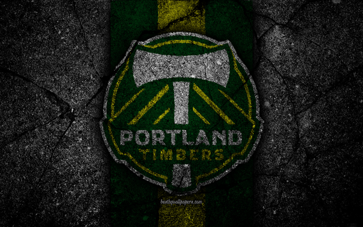 4k Portland Timbers FC MLS Asphalt Texture Western Conference Black Stone