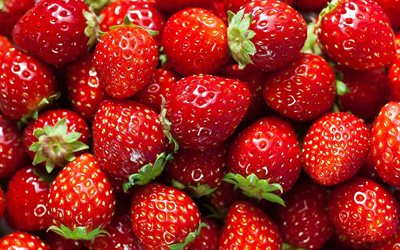 ripe strawberries, berries, strawberries, red berries, strawberry background, ripe berries