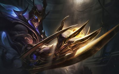 Zed, darkness, MOBA, League of Legends characters, Zed with sword, warrior, monsters, League of Legends