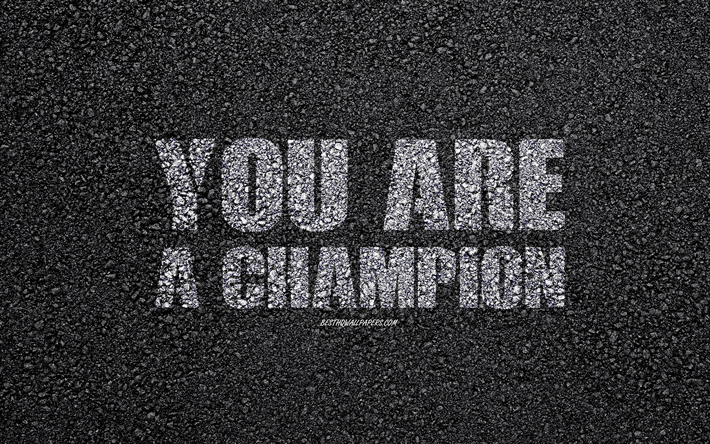 Download Wallpapers You Are A Champion Motivation Quotes