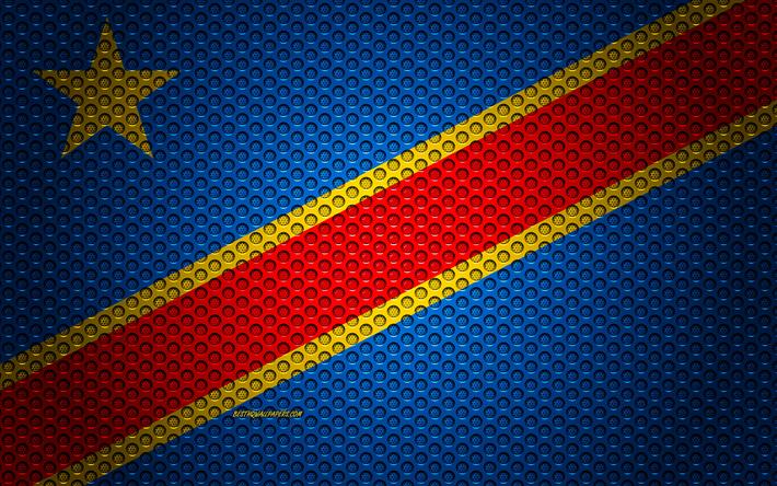 Download wallpapers Flag of Democratic Republic of Congo, 4k