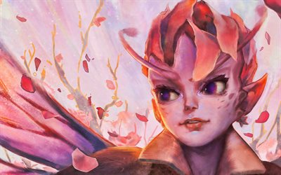 Dark Willow, obras de arte, Dota 2, los personajes femeninos, guerreros, Dota2, Dark Willow Dota