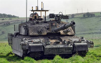 4k, Challenger 2, tanks, British MBT, British Army, green camouflage, armored vehicles