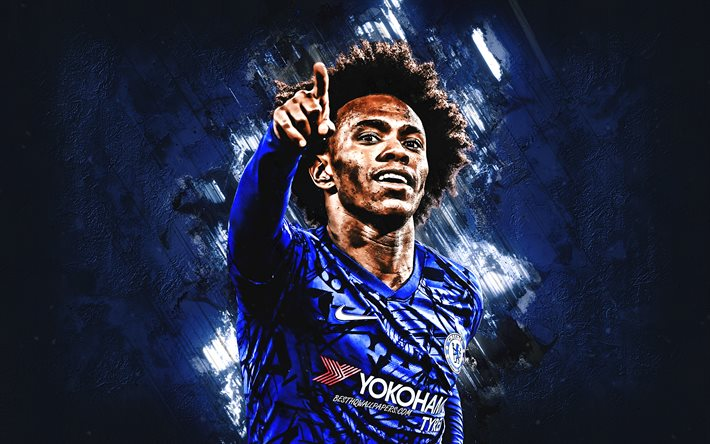 Download Wallpapers Willian, Chelsea FC, Brazilian