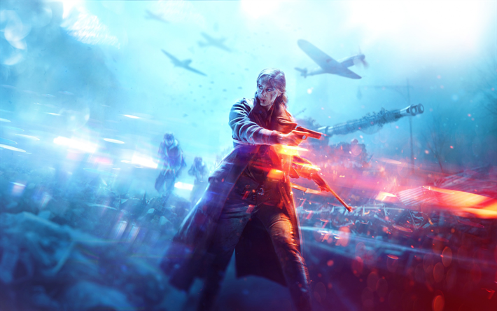 Download wallpapers Battlefield V, Electronic Arts