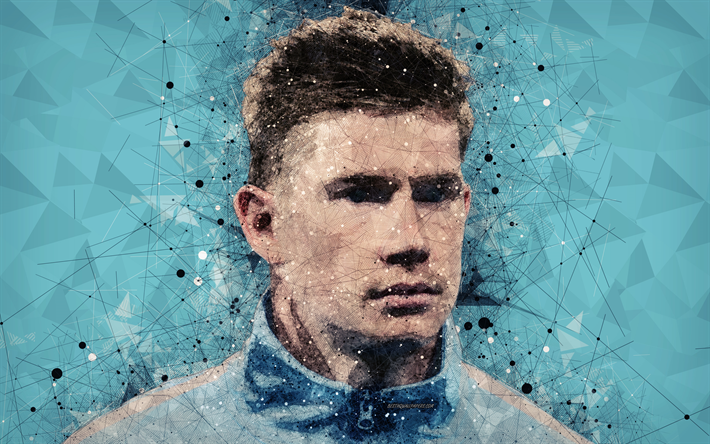 Download Wallpapers Kevin De Bruyne, 4k, Face, Creative
