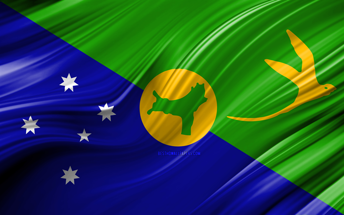 Christmas Island Flag.Download Wallpapers 4k Christmas Island Flag Asian