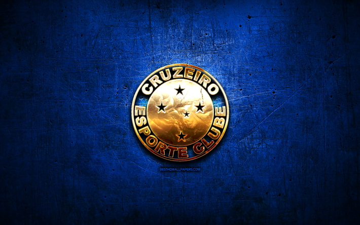 Download Wallpapers Cruzeiro FC Golden Logo Brazilian