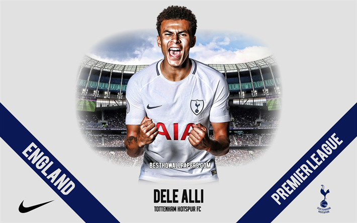 Dele Alli, Tottenham Hotspur FC, English football player, midfielder, Tottenham Hotspur Stadium, Premier League, England, football, Bamidele Jermaine Alli