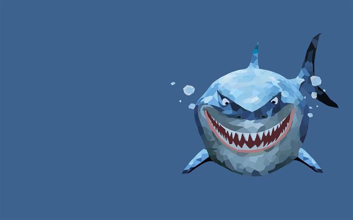 Télécharger Fonds D écran Requin Blanc 4k Low Poly D Art