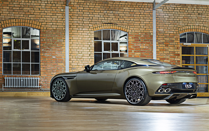 2019, Aston Martin DBS Superleggera, OHMSS Edition, rear view, exterior, luxury supercar, sports coupe, British sports cars, Aston Martin
