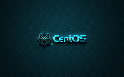CentOS blue logo, creative blue art, CentOS emblem, dark blue background, CentOS, logo, brands