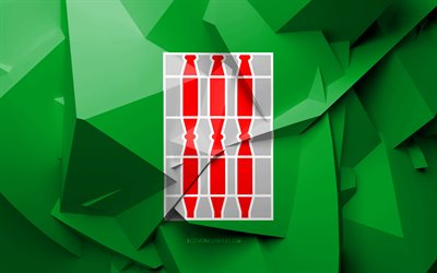 4k, Flag of Umbria, geometric art, Regions of Italy, Umbria flag, creative, italian regions, Umbria, administrative districts, Umbria 3D flag, Italy