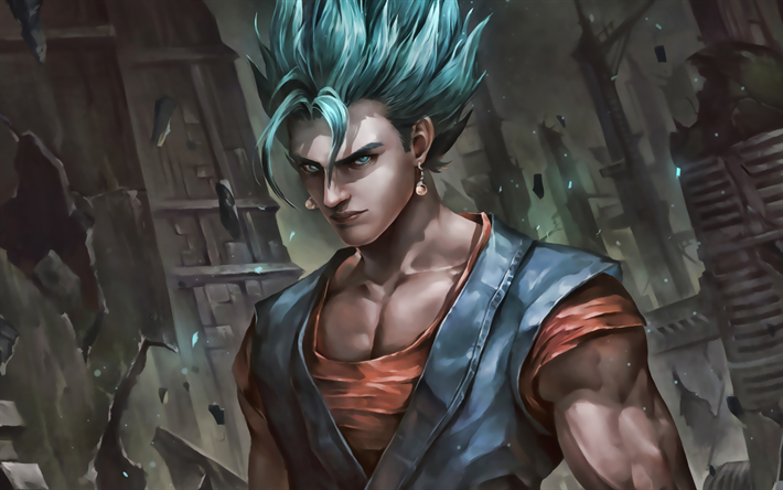vegito, dunkelheit, dragon ball, close-up, dbs, dragon ball super, dbs-zeichen
