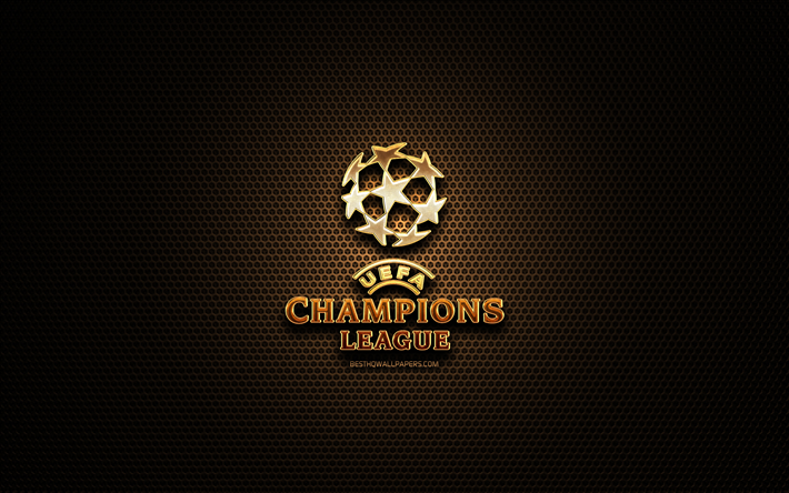 download wallpapers uefa champions league glitter logo football leagues creative metal grid background uefa champions league logo english football league brands uefa champions league for desktop free pictures for desktop free download wallpapers uefa champions