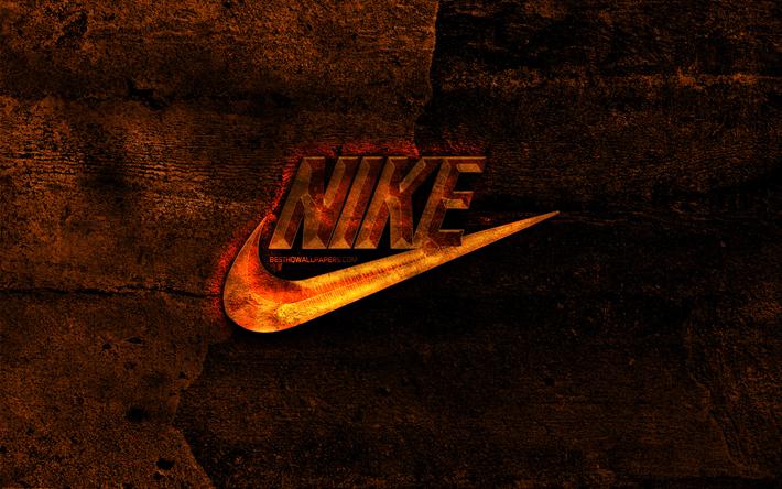 thumb2 nike fiery logo orange stone background nike creative nike logo