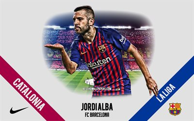 Jordi Alba, FC Barcelona, Spanish footballer, defender, Camp Nou, La Liga, Spain, football, Catalonia, Barcelona
